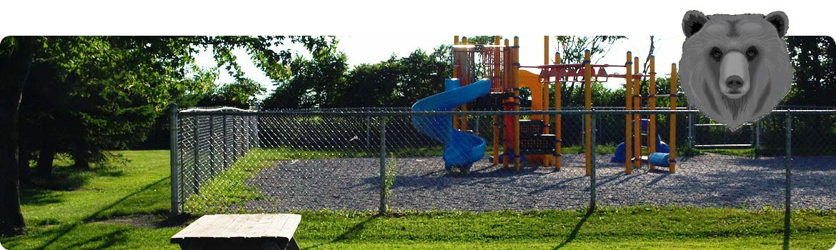 Picture of the kindergarten playground area.
